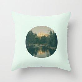 Mint Mountain Vignette Throw Pillow