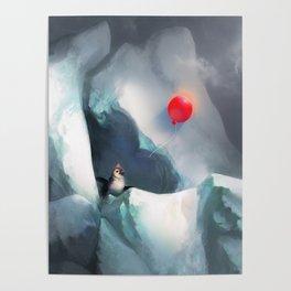 Heart Penguin Poster