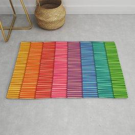 Rainbow Striped Pattern Rug