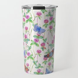 Clover Meadow Pattern - Neutral Travel Mug
