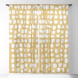 Dots (Mustard Yellow) Sheer Curtain