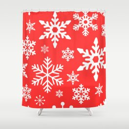 Snow - holiday series Shower Curtain
