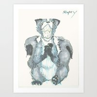 Shapey Art Print