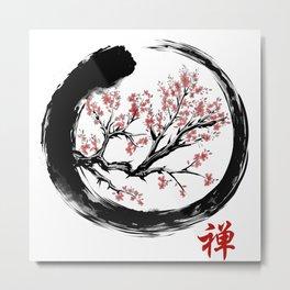 Japanese ENSO ZEN Buddhist SHIRT Metal Print