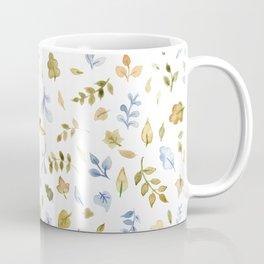Watercolor Leaf Pattern Coffee Mug