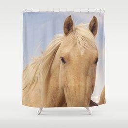 Palomino equestrian photograph Shower Curtain