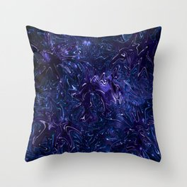 The Wolves Hidden in the Sapphire Blue Galaxy Throw Pillow