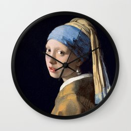 GIRL WITH A PEARL EARRING - JOHANNES VERMEER Wall Clock