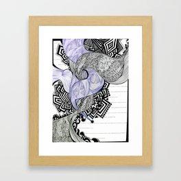 Blank Blue Framed Art Print