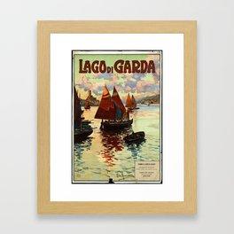 Lake Garda - Vintage Poster Framed Art Print