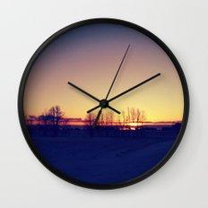 Winter Sets Wall Clock