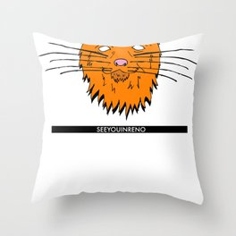 See You In Reno - The Cat Throw Pillow