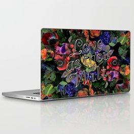 Love as thou wilt Laptop & iPad Skin