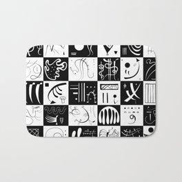 Kandinsky - Black and White Pattern - Abstract Art Bath Mat