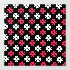 Hashtag Pattern Canvas Print