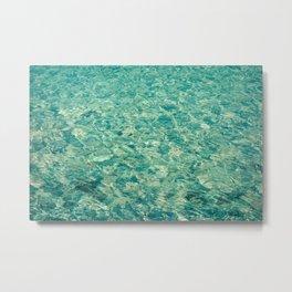 Sea cristal background Metal Print