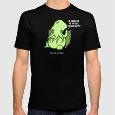 Prank Call of Cthulhu X-LARGE Black Mens Fitted Tee