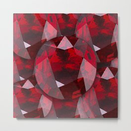 RED GARNET GEMS JANUARY BIRTHSTONE Metal Print