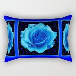Romantic Blue Prom Rose Mirrored Balll Pattern Rectangular Pillow