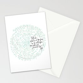 Summer Day (Mary Oliver) - Blue/Green Stationery Cards