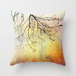 november gold Throw Pillow