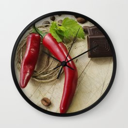 Rustic coffee beans kitchen image Wall Clock