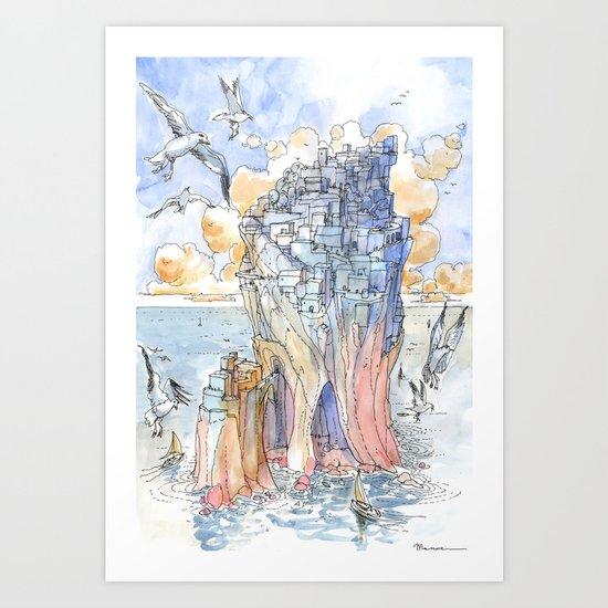 La Citta' Scoglio Art Print