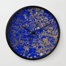 Royal Blue and Gold Patina Design Wall Clock