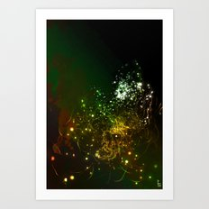 Mysterious World In the Garden Art Print