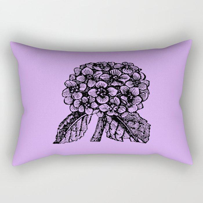 Lavender Hydrangea Rectangular Pillow