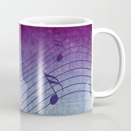 Aqua Purple Ombre Music Notes Coffee Mug