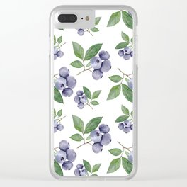 Watercolour blueberry pattern #s1 Clear iPhone Case