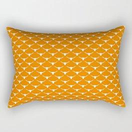 Longhorn silhouettes white on orange Rectangular Pillow