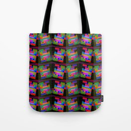Colored-H-pattern Tote Bag