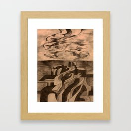 A City on the Edge of the Water Framed Art Print