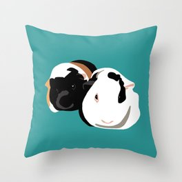 Delores and Popcorn Throw Pillow