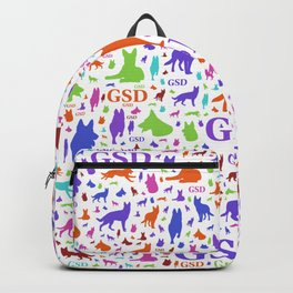 German Shepherd Dog Silhouettes - Color #2 Backpack