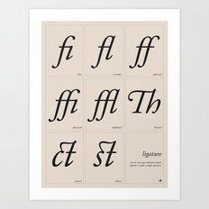 Ligature Art Print