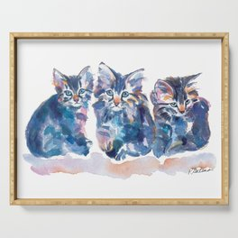 Crazy Quilt Kittens Serving Tray
