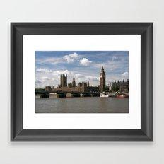 Houses of Parliament, London, UK Framed Art Print