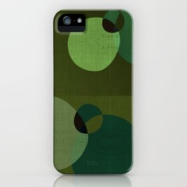 """Retro Green Super Dots"" iPhone Case"