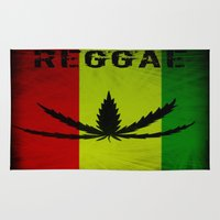 reggae Area & Throw Rugs featuring REGGAE by shannon's art space