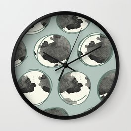 Sketched Circles in Aqua Blue Wall Clock