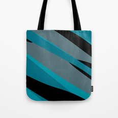 Turquoise gray and black camo abstract Tote Bag