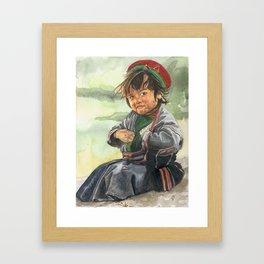 Little sherpa Framed Art Print