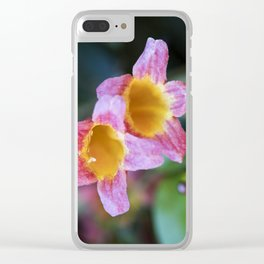 Tangerine Beauty Cross Vine Pair Clear iPhone Case
