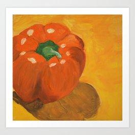 Orange Bell Pepper Art Print
