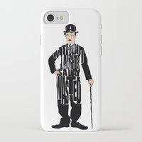 charlie chaplin iPhone & iPod Cases featuring Charlie Chaplin by Ayse Deniz
