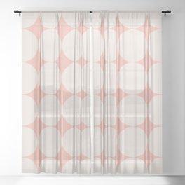 Circular Minimalism - Pastel Pink Sheer Curtain