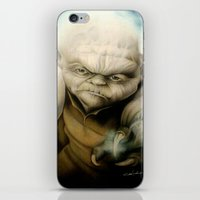 yoda iPhone & iPod Skins featuring Yoda by Colunga-Art